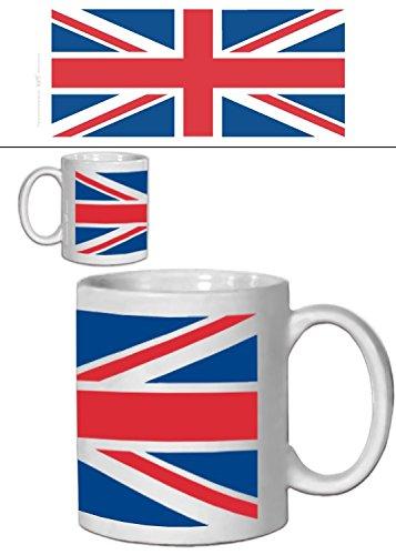 Set: Banderas Del Mundo, Union Jack Taza Foto (9x8 cm) Y 1x Pegatina S