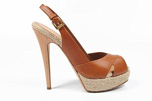 sandalo donna Sebastian Milano ladies sandal s4413 nappa stelvio mc 6102 bruciato -- 41 eur - 11 us