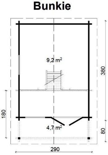 gartenhaus-bunkie-40-schlafboden-blockhaus-290x380100cm-vordach-holzhaus-40mm-2