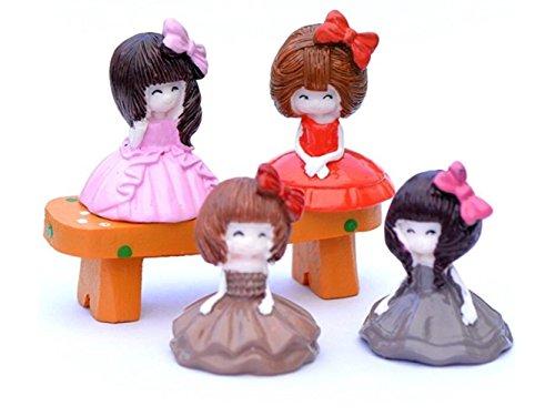 (UHUA Fee und süß 1 Stück Miniatur Kleid Mädchen Fee Garten Puppenhaus Micro Landschaft Bonsai Dekoration Handwerk (zufällige Farbe))