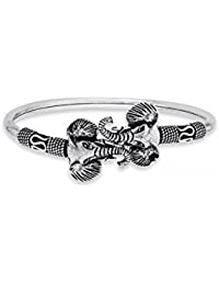 Ahilya Jewels 92.5 Sterling Silver Airavat Kada for Women and Girl