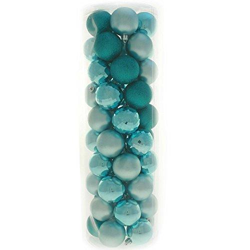 chere Christbaumkugeln, farblich aufeinander abgestimmtes Set mit 50 Stück Türkis/Blau ()