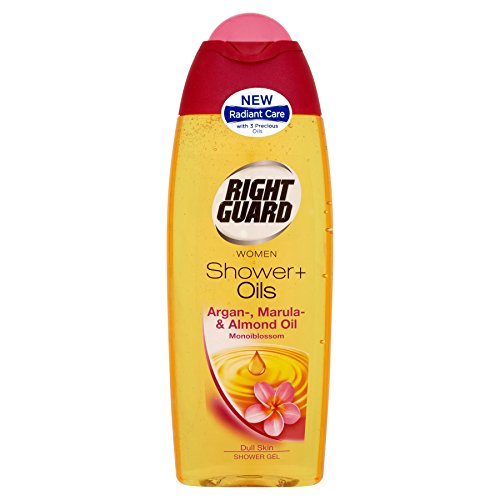 6-x-right-guard-women-shower-oils-shower-gel-argan-marula-almond-oil-monoiblossom-250ml