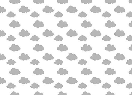 Hochstuhl Matte (Deluxe groß Hochstuhl kein Durcheinander Splash Matte/Tisch Displayschutzfolie–127cm x 92cm–Grau Cloud Design)