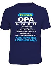 Das Geschenk-T-Shirt für den Großvater: Firma Opa GmbH - Vorlesedienste, Werkzeug- und Autoverleih, … kostenfrei, lebenslang