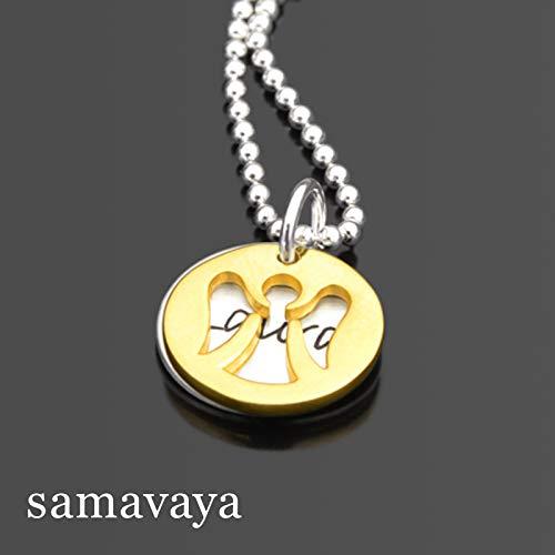 Engel Schmuck HIDDEN ANGEL GOLD 925 Silberkette mit Gravur Namenskette