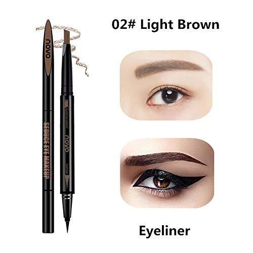 Lápiz cejas marrón impermeable combo delineador