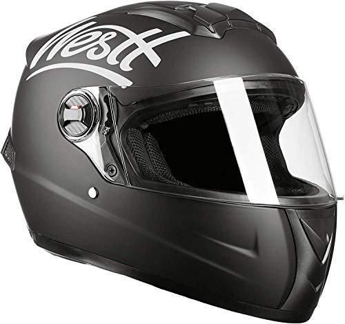 Westt Storm Casco Moto Integral Negro Mate - Motocicleta