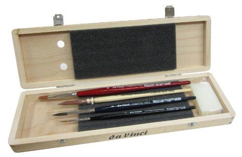 Da Vinci Serie 5279agua Color cepillo Set, madera, marrón, negro/rojo,...