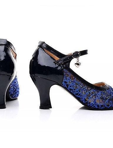 shangyi pas personnalisables–talon compensé–Néoprène–Latin–Femme Bleu - bleu