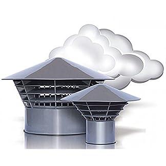 Ventilación Campana campanas sombrero techo entlüfter DN 160/150montaje en tubo