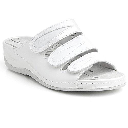 Batz CSP Sandales, Mules en Cuir de Qualité Supérieure Femme Blanc
