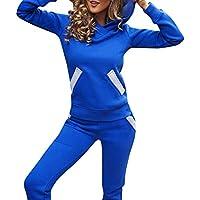 Hanomes Damen pullover, Frauen Trainingsanzug Hoodies Sweatshirt Top Hosen Sets Sportbekleidung Casual Anzug preisvergleich bei billige-tabletten.eu