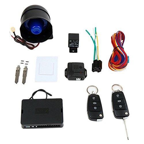 CARSFORM CH888 Auto Alarmanlage Kit Einweg Fahrzeug Alarmanlage Diebstahlsicherungen mit Fernbedienung Trigger Schutz