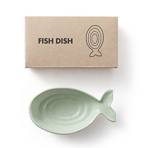 LamberthcV Neue Fisch Dish Sauce Teller, Mehrzweck Kleine Schale Schale Zucker Halter Halt Würze Pickle Essig/Salat/Sojasoße/senf/Chili Öl, Kitchen Kleine Porzellan, grün, 12*6.3*2.3 cm (Teller-sauce)