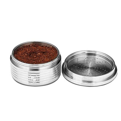 Taza de café recargable cápsula, Konesky acero inoxidable vacío cápsulas de café vainas tazas reutilizable café espresso taza compatible para máquina de café Lavazza (Lavazza Espresso Point)