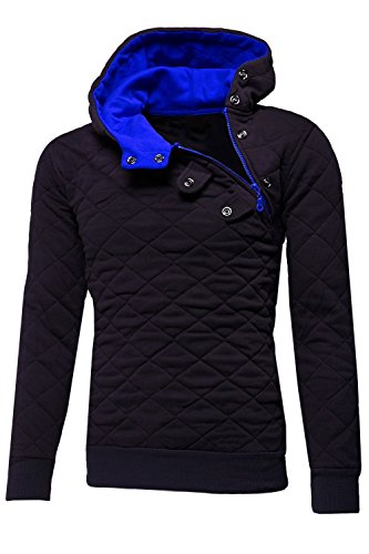 MT Styles Kapuzenpullover Side-Zip Pullover S-210 [Schwarz, L] Side-zip Pullover