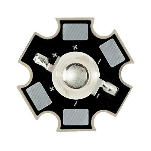 1W 3W Diode électroluminescente à LED Haute Puissance sur Circuit Imprimé 20 mm PCB, 1W, Vert Clair (530nm), 20 x LEDs