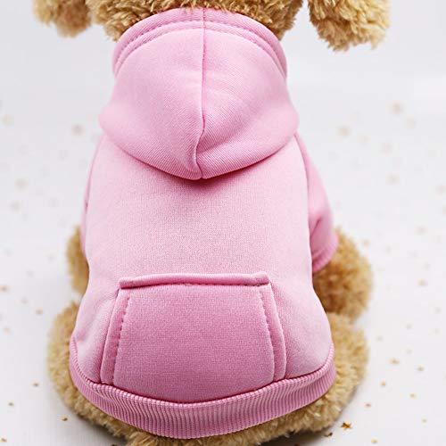 Smoro Haustier Katze Hundekleid Winter warme weiche Weste Geschirr Welpen Kleiner Hundemantel Kleidungs Hoodie mit Tasche