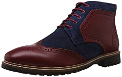Bata Mens Chuck Cherry Leather Boots - 10 UK/India (44 EU) (8045192)