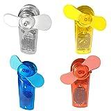 Loose und Germershausen GbR Ventilator Mini in 6 Farben Handventilator Miniventilator Hand Ventilator Umhängeband Lüfter (Gelb)