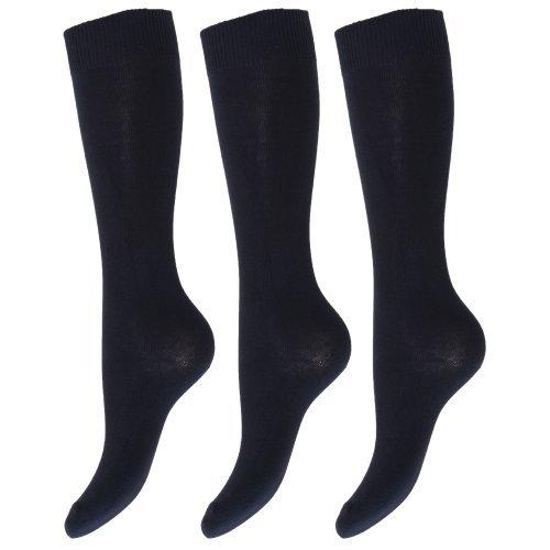 Calcetines lisos altos hasta rodilla uniforme colegio