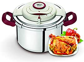 Tefal Stainless Steel Clipso Precision Pressure Cooker 6 Liter, Silver P4410762