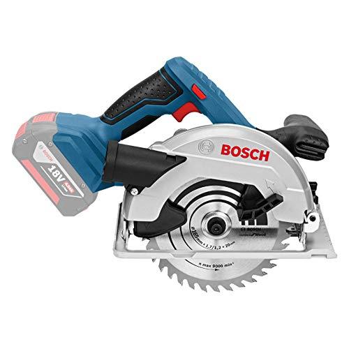 Bosch Professional GKS 18 V-LI Akku-Kreissäge, Schnitttiefe 90/45 Grad, 51/40 mm, stufenlose Schnitttiefeneinstellung in L-Boxx ohne Akku und Ladegerät, 1 Stück, 060166H006 - 4