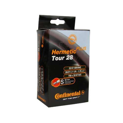Continental Schlauch Tour 28 Hermetic Plus SV 40, Schwarz, (28/47 - 609/642), 0182091