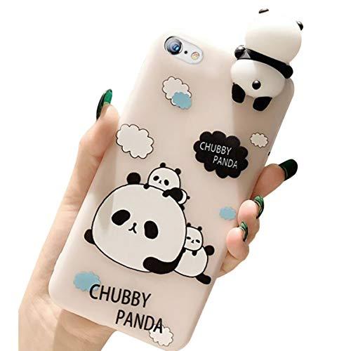 Ekakashop kompatibel mit iPhone SE Hülle,Squishy 3D Hülle kompatibel mit iPhone 5S,Cute Schlafen Panda Stress Weiche Silikon Hybrid Stoßdämpfend Schutzhülle TPU Case Schale Defender Bumper,EINWEG