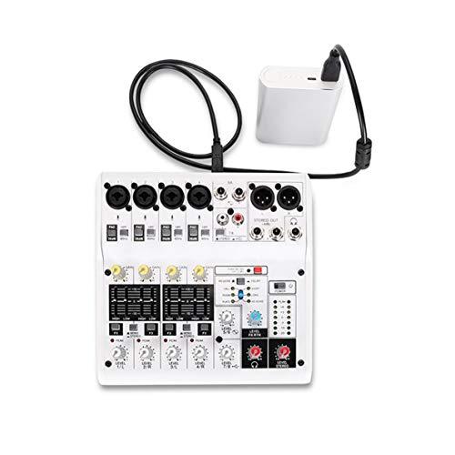 Preisvergleich Produktbild Noradtjcca 8-Kanal-Soundkarte Digital Audio Mixer Mischpult Eingebaute Unterstützung Stromversorgung über Netzteil USB-Kabel