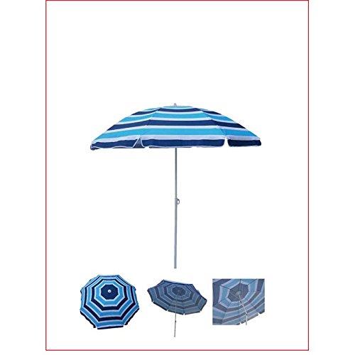 WDK Partner zyt-1608plyuv-b Sonnenschirm 160cm, blau gestreift, mehrfarbig, 1, 0000x 1, 0000cm