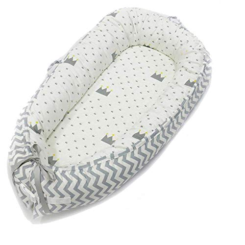 Newborn Baby Lounger,Hbisae Multifunctional Baby Nest, Portable Soft Breathable Baby Snuggle Nest,...