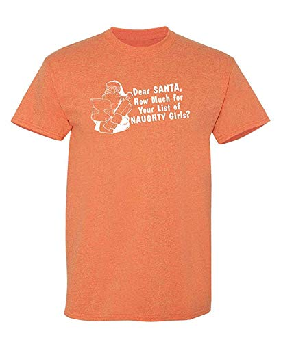 Wie viel Liste der frechen Mädchen Humor Graphic Neuheit sarkastisch Lustiges T-Shirt, Medium, Sunset