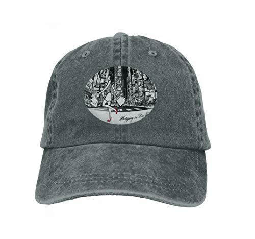 Xunulyn Adult Grid Baseball Caps Unisex Sunshade Hat Mesh Hat Snapback Cap Shopping Times Square New York Night All ads Imaginary Paint Carbon