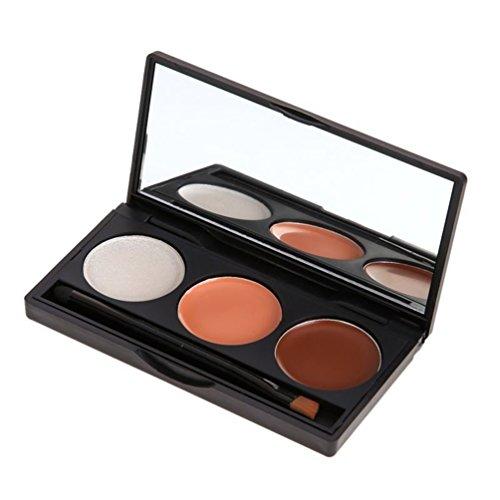 timesong 3 couleurs maquillage correcteur Palette Maquillage Poudre Teinte Crème avec miroir