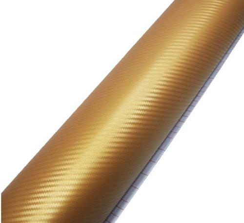 3D Golden flexible en fibre de carbone vinyle Wrap Film d'or 24 \