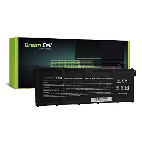 R5 Ersatz (Green Cell® Laptop Akku für Acer Aspire R 15 R5-571T-78G8 R5-571TG R5-571TG-50RF R5-571TG-51CB R5-571TG-57YD R5-571TG-720H R5-571TG-7229 (Li-Polymer Zellen 3200mAh 15.2V Schwarz))