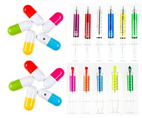 Medical Stationäre Spritze und Medikamente Kapsel Stifte Kugelschreiber zur Krankenschwester oder (Kinder Tierarzt Kostüme)