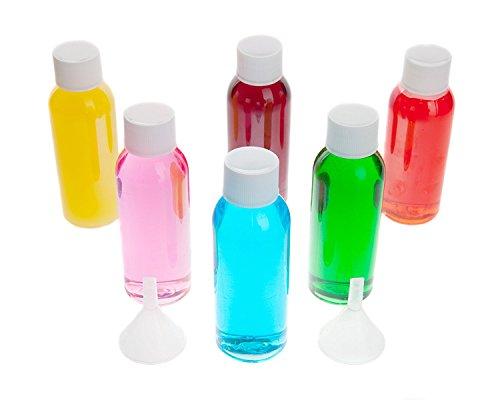Flacons pour voyages en avion - Pack de 6 flacons de 50 ml en plastique, 6 flacons transparents à emporter en avion