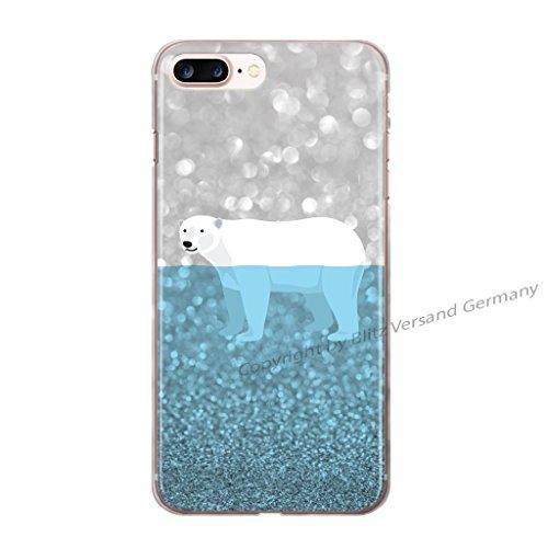 Blitz® PLAY motifs housse de protection transparent TPE caricature bande iPhone Ours polaire dans la mer de glace M11 iPhone X Ours polaire dans la mer de glace M11