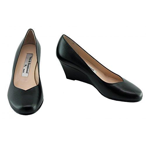 Escarpins Femme Noir Compensé - Kessy - Yves De Beaumond ® C-Noir
