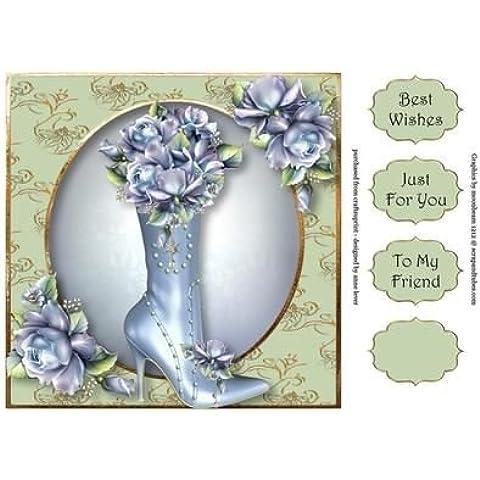 Fabuloso para y porcelana de rosas de 8 x 8 rápido para pastel de Anne de palanca