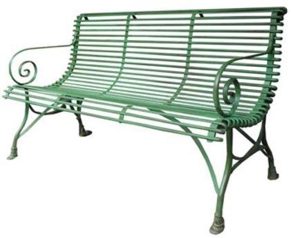 Casa Padrino 3er Gartenbank - Vintage Schmiedeeisen Bank, Farbe:vintage weiß