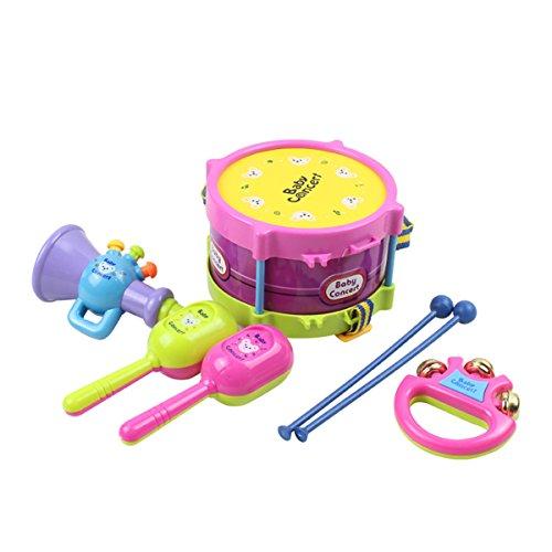 TOYMYTOY 5Pcs Kinder Musical Spielzeug Kinder Roll Trommel Beat Rattles Musical Spiel Instrumente