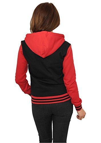 Urban Classics Ladies 2-Tone College Zip Sweat t B red