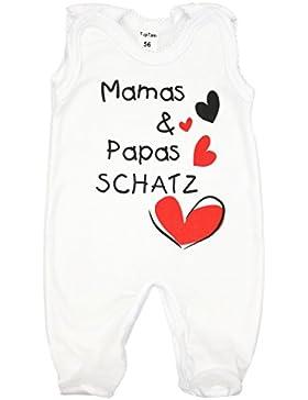 TupTam Unisex Baby Strampler mit Spruch Mamas & Papas Schatz