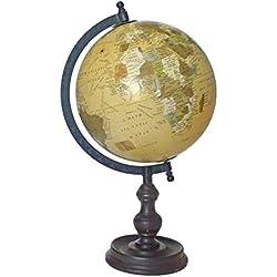 Better & Best 2601022 - Bola del mundo mediana beige, con pie de madera, 20 cm