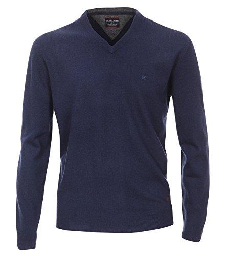Casa Moda - Herren Pullover mitKaschmir Anteil und V-Ausschnitt (462588300) Blau (135)