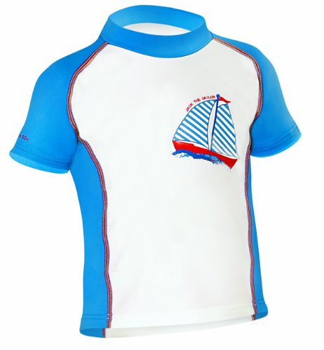 Camaro Kinder Lycra Shirt Toddler Shirt Boys, Weiss-blau, 74 -